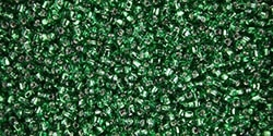 Miyuki 10/0 Triangle Beads 10 Grams 10TR1802 TSL Kelly Green