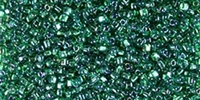 Miyuki 10/0 Triangle Beads 10 Grams 10TR1812 ICL Med. Green/Dk. Green