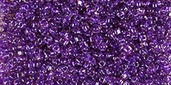 Miyuki 10/0 Triangle Beads 10 Grams 10TR1835 ICL Lt Purple/Dark Purple