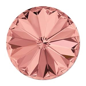 Swarovski 12mm Rovoli - 112212BRO Blush Rose Foil Back - 1 Rivoli