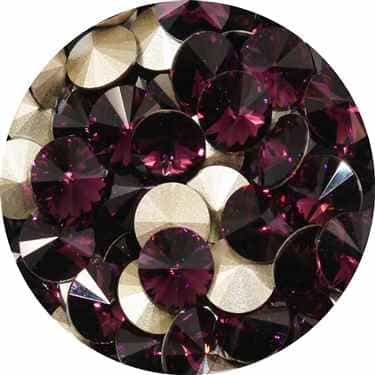 112239AMY - Swarovski Crystal 8mm Chaton Crystals - Amethyst - 1 Chaton