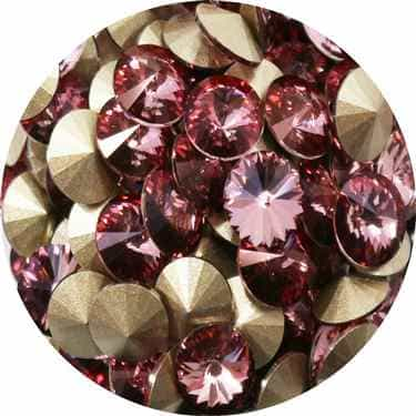 112239ANTPNK - Swarovski Crystal 8mm Chaton Crystals - Antique Pink - 1 Chaton