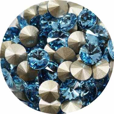 112239AQUA - Swarovski Crystal 8mm Chaton Crystals - Aquamarine - 1 Chaton