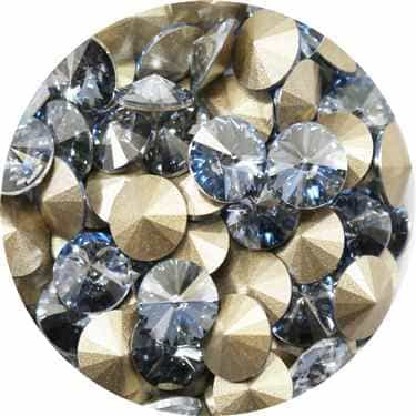 112239BLSH - Swarovski Crystal 8mm Chaton Crystals - Blue Shade - 1 Chaton