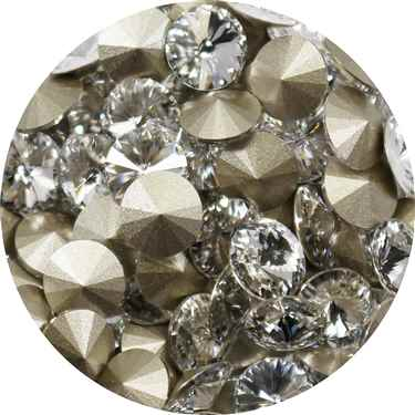112239CRY - Swarovski Crystal 8mm Chaton Crystals - Crystal - 1 Chaton