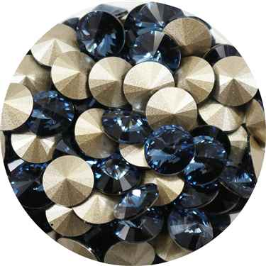 112239DNMBL - Swarovski Crystal 8mm Chaton Crystals - Denim Blue - 1 Chaton