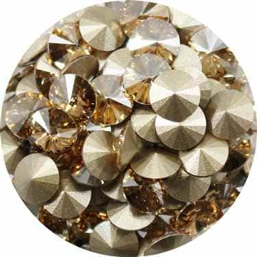 112239GLDSHDW - Swarovski Crystal 8mm Chaton Crystals - Golden Shadow - 1 Chaton
