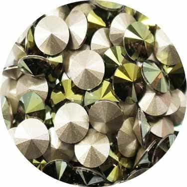 112239IRGR - Swarovski Crystal 8mm Chaton Crystals - Iridescent Green - 1 Chaton