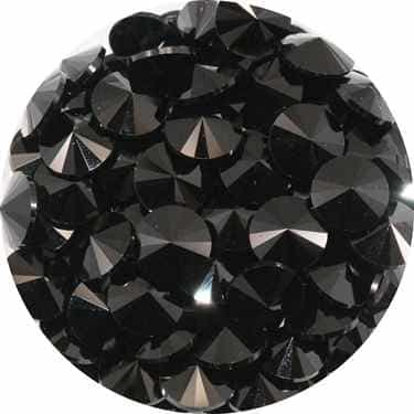 112239JET - Swarovski Crystal 8mm Chaton Crystals - Jet - 1 Chaton