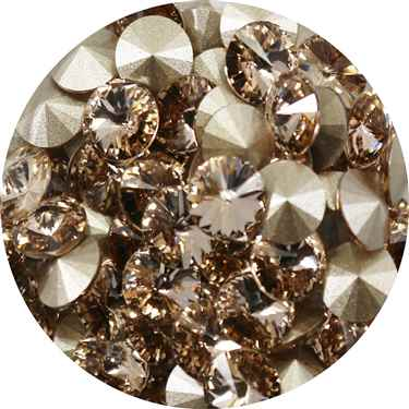 112239LTSLK - Swarovski Crystal 8mm Chaton Crystals - Light Silk - 1 Chaton