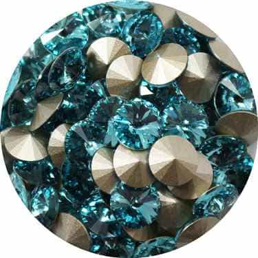 112239LTTURQ - Swarovski Crystal 8mm Chaton Crystals - Light Turquoise - 1 Chaton
