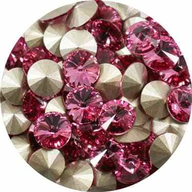 112239ROS - Swarovski Crystal 8mm Chaton Crystals - Rose - 1 Chaton