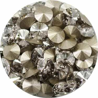 112239SSHA - Swarovski Crystal 8mm Chaton Crystals - Silver Shade - 1 Chaton