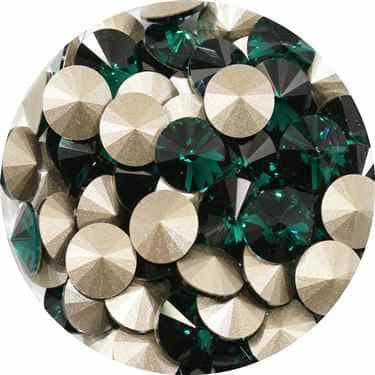 112239EM - Swarovski Crystal 8mm Chaton Crystals - Emerald - 1 Chaton
