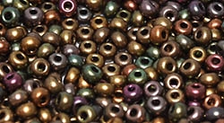 11/0 11CZ01640 Czech Coating on Miyuki Rocailles - Purple Iris Gold - 10 Grams