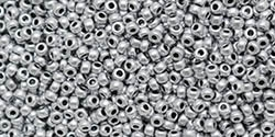 11/0 11CZ0170 Metallic Silver Czech Seed Beads - 10 Grams