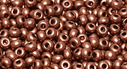11/0 11CZ01770 Vintage Copper Czech Seed Beads - 10 Grams
