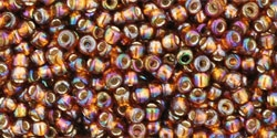11/0 Toho 11TO2034 Round Silver Lined Rainbow Topaz  - 10 Grams