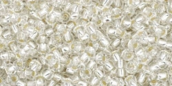 11/0 Toho 11TO21 Round Silver-Lined Crystal - 10 Grams