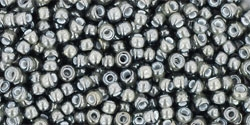 11/0 Toho 11TO371 Round Inside Color Black Diamond/White Lined - 10 Grams