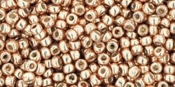 11/0 Toho 11TOPF551 Round Permanent Finish - Galvanized Rose Gold  - 10 Grams