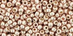 11/0 Toho 11TOPF552 Round Permanent Finish - Galvanized Sweet Blush - 10 Grams