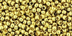 11/0 Toho 11TOPF559 Round Permanent Finish - Galvanized Yellow Gold - 10 Grams
