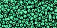 11/0 Toho 11TOPF569 Round Permanent Finish Galvanized Teal - 10 Grams