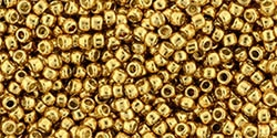 11/0 Toho 11TOPF591 Round Permafinish - Galvanized Old Gold - 10 Grams