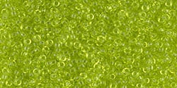 10g Miyuki Rocaille Seed Beads 15RR0143 T Lime Green