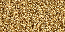 10g Miyuki Rocaille Seed Beads 15RR4202 Duracoat Galvanized Gold