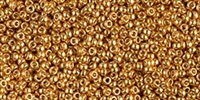 10g Miyuki Rocaille Seed Beads 15RR4203 Duracoat Galvanized Yellow Gold