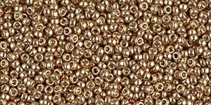 10g Miyuki Rocaille Seed Beads 15RR4204 Duracoat Galvanized Champagne
