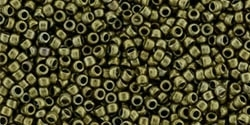 15/0 Toho 15TO225 Round Bronze Antique Gold - 10 Grams