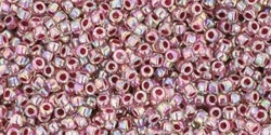 15/0 Toho 15TO771 Round Inside Color Rainbow Crystal/Straberry Lined - 10 Grams