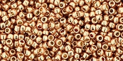 15/0 Toho 15TOPF551 Round Permanent Finish - Galvanized Rose Gold - 10 Grams