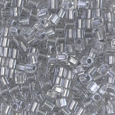 Miyuki Square 3MM Beads 3SB242 ICL Clear/Silver