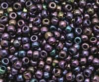 3/0 Toho 3TO85 - Metallic Iris Purple Round  Seed Beads - 10 Grams