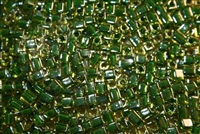 Miyuki Square 4MM Beads 4SB2632 ICL Peridot/Medium Green