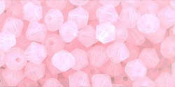 530104ROAL - 4mm Swarovski Crystal Rose Alabaster Bicone Crystals 25 count
