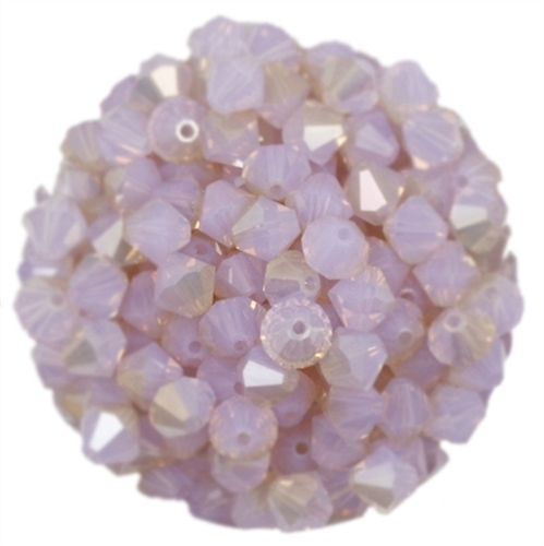 530106VIOPCHMP - 6mm Swarovski Bicone Crystals - Violet Opal Champagne - 25 count