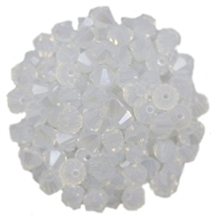 530106WHOPICE - 6mm Swarovski Bicone Crystals - White Opal Ice - 25 count