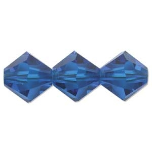 532803CAP - 3mm Swarovski Crystal Blue Capri - 25 Count