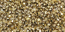Swarovski Crystal Aurum 2X Bicone - 25 count