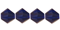 4mm Swarovski Crystal Cobalt Bicone Crystals 25 count