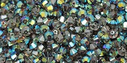 532804 CRYSAAB - 4mm Swarovski Crystal Satin Bicone Crystals 25 count