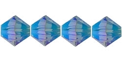532804DBL2AB - 4mm Swarovski Crystal Denim Blue 2AB Bicone Crystals 25 count