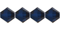 4mm Swarovski Crystal Dark Indigo Bicone Crystals 25 count