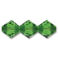 532804FG - 4mm Swarovski Crystal Fern Green Bicone Crystals 25 count