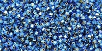 532804PALGRNOP2AB - 4mm Swarovski Crystal Palace Green Opal 2AB Bicone Crystals 25 count